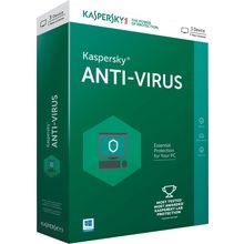Kaspersky Anti-Virus, 3 user, multicolor