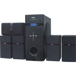 Vox D-5200A 5.1 Speakers with Amplifier,  black