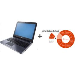 Dell Inspiron 15R 5537 Laptop (4th Gen Ci7/ 8GB/ 1TB/ Win8/ 2GB Graph) + Microsoft Office 365 Mid Business Premium (Product Key Card) (No DVD),  silver