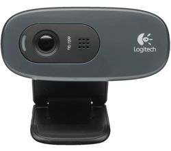 Logitech C270 HD 720p Webcam (Black)