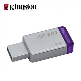 Kingston DataTraveler 50 USB 3.0 128GB Pen Drive (Silver & Black)