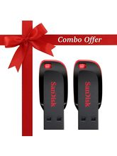 SanDisk 32GB+32GB Cruzer Blade Pen Drive (Pack of 2)