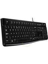 Logitech K120 Wired USB Keyboard (Black)