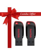 Sandisk Cruzer Blade 8 GB Pen Drive (Combo Pack of 2), black