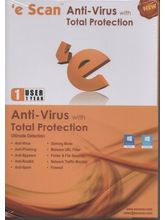 Escan Anti Virus Total Protection 1User 1year