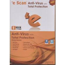 Escan Anti Virus Total Protection, 1 user, standard-multicolor