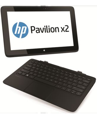HP Pavilion 11h115TU X2 Laptop (4th Gen Ci5 - 4202Y/ 4GB RAM/ 128GB HDD/ Win8.1/ Touch),  black