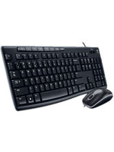 Logitech MK200 Wired Keyboard and Mouse Combo (Black)