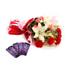 Lovely Blooming Bunch with Chocolates