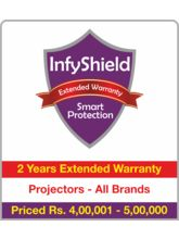InfyShield 2 Yrs Extended Warranty on Projectors Rs. 4, 00, 000 - 5, 00, 000