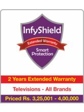 InfyShield 2 Yrs Extended Warranty on TVs Rs. 325001 - 400000