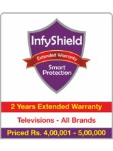 InfyShield 2 Yrs Extended Warranty on TVs Rs. 400001 - 500000