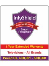 InfyShield 1 Yr Extended Warranty on TVs Rs. 400001 - 500000
