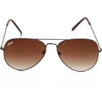 Ainak Brown Aviators Sunglasses AI-0037-AIC37, brown, brown