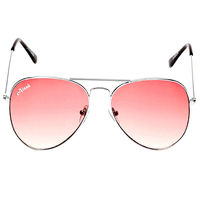 Ainak Red Aviators Sunglasses AI-0044-AIC44, red, silver