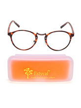 Estycal Trendy Printed Orange Unisex Eyeglass Frames