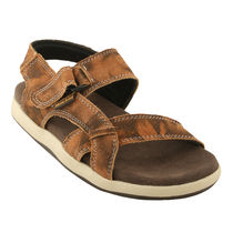 Bacca bucci Genuine Leather Men's Sandals, 9,  tan