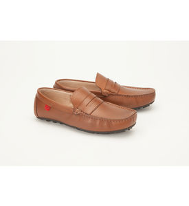 Careeno Carmelo Leather Men s Loafers & Moccasins, tan, 36