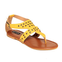 TEN Women's Flats,  yellow, 35