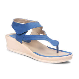 Meriggiare Women Wedges, 41, blue