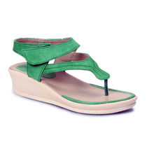 Meriggiare Women Wedges, 37,  green