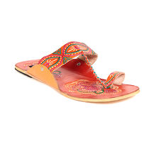 TEN Women's Ethnic Slippers,  orange, 37