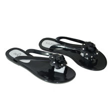 Soozys Jelly Flower Studded Flats, black, 39