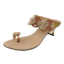 Assort Ethnic Heels 118, gold, 8