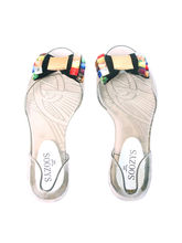 Soozys Jelly Studded Bow Ballet Flats, 37, multicolor