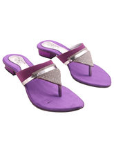 Trewfin Women's Stylish and Beautiful Heels, purple, 6