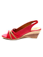 Marc Loire Spring Janette Wedge, red, 37