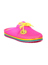 TEN Women's PVC Slippers & Flip-Flops, pink, 40