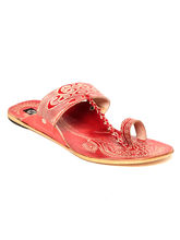 TEN Women's Ethnic Slippers, red, 36
