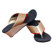 Stylish Women Sequence Jute Wedges-MALWG110, 8, multicolor