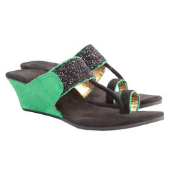 Maalpani Gorgeous Kolhapuri Style Wedges For Women - MAP09019, multicolor, 6