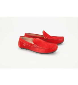 Careeno Cireo Suede Men s Loafers & Moccasins, red, 28