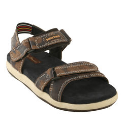 Bacca bucci Genuine Leather Men s Sandals, 8,  brown