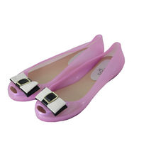 Soozys Jelly Bow Ballet Ballerinas, pink, 38