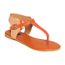 TEN Women's Flats,  orange, 36