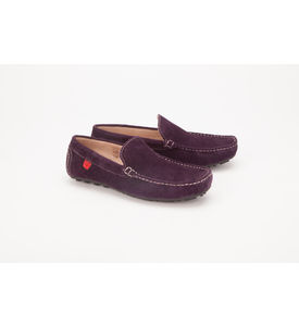 Careeno Cireo Suede Men s Loafers & Moccasins, purple, 27