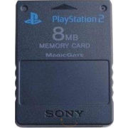 Sony 8MB Memory Card PS2,  black
