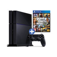 Sony PlayStation 4– GTA V Bundle with Sony Dualshock 4 Wireless Extra Controller,  black