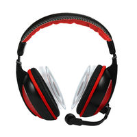 Amkette Boomer Stereo Sound Gaming Headset,  red