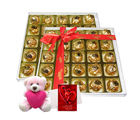 Chocholik Exquisite Selection Of Chocolates With Teddy And Love Card - Luxury Chocolates