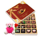 Chocholik Very Nice Decorated Chocolate Box With Teddy and Rose - Belgium Chocolates