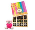 Chocholik Ultimate Truffle Collection With Teddy - Belgium Chocolates