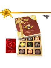 Chocholik 9pc Luscious Truffle Treat With Card - Belgium Chocolates