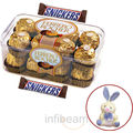 Ferrero Rocher and Snickers with free Teddy