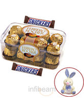 Ferrero Rocher and Snickers with free Teddy (300 gm)