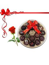 18pc Lip Smacking Choco-Platter with Red Rose